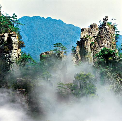 庐山一线天的风景