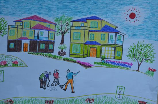 美丽中国手绘儿童画
