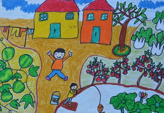 叶鸿棨,5岁,昭平县幼儿园,指导教师,徐军萍,农家乐图片
